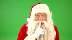 Santa Claus says SHH Stock Footage