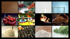 Food montage Stock Footage