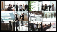 Bigbiz montage Stock Footage