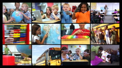 School montage - stock footage