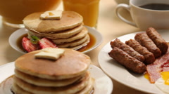 Breakfast scenery Stock Footage