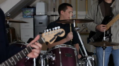 Band playing music Stock Footage