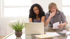 Couple having financial troubles Stock Footage