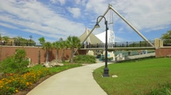 Concert stage at Cascades Park Tallahassee - stock footage