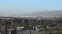 Missoula, Montana Mountain Panoramic View Stock Footage