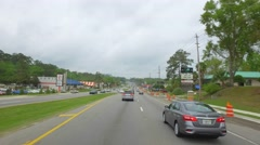 Driving on Monroe Street Tallahassee sped up - stock footage