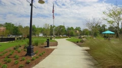 Exercise at Cascades Park Tallahassee Florida - stock footage