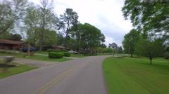 Florida neighborhood in Tallahassee - stock footage