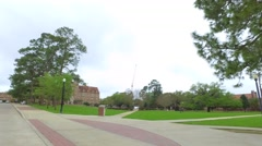 FSU College campus scenic video Stock Footage