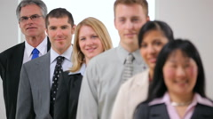 Group of businesspeople, rack focus Stock Footage