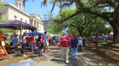 Jubilee festival Downtown Tallahassee Stock Footage