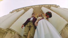 Happy Couple Taking Selfie on the Street Stock Footage