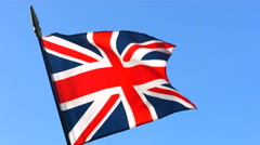 British flag - stock footage