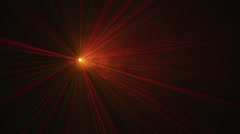 Laser lights in fog Stock Footage