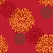 Seamless Print Mandalas. Vintage decorative element on seamless texture. Hand Stock Illustration