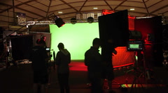 Photo Shoot On Green Screen In Studio - stock footage