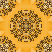 Arabesque Motif Print - stock illustration