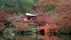 Benten-do temple & autumn colour Stock Footage