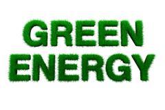 Green energy sign Stock Photos