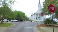 Tallahassee churches on Park Avenue Stock Footage