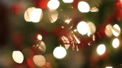Christmas lights, blurred background - stock footage
