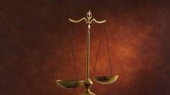Scales of justice Stock Footage