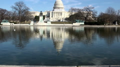 United States Capitol building, Washington DC Stock Footage