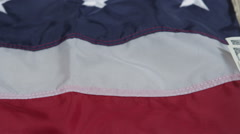 Money on American flag background Stock Footage
