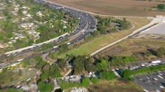 Freeway traffic, crash zoom Stock Footage