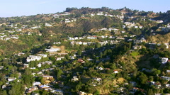 Aerial shot of Hollywood Hills, California Stock Footage