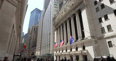 New York City Wall Street NYSE Stock Footage