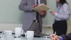 Portrait of senior Asian business executive Stock Footage