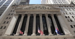New York City Wall Street NYSE - stock footage
