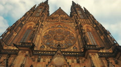 Approaching the St Vitus Cathedral-POV Walking Shot Stock Footage