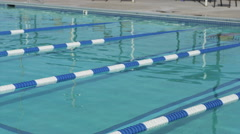 Swimmer doing butterfly stroke Stock Footage