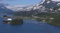 Alaskan pipline, Valdez Alaska Stock Footage
