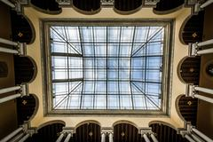 The ceiling of the Walter's Art Museum, in Mount Vernon, Baltimore, Maryland. Stock Photos