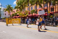 The 8th Annual Miami Beach Gay Pride Parade Stock Photos