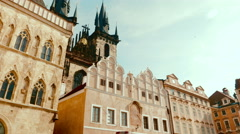 POV Walking Shot from the Old Town Square to the Church of Our Lady before Tyn Stock Footage
