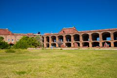 Fort Jefferson in the Dry Tortugas - stock photo