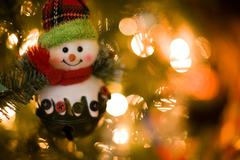 Snowman christmas decoration Stock Photos