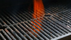 BBQ Grill and glowing coals. You can see more BBQ, grilled food, fire Stock Footage