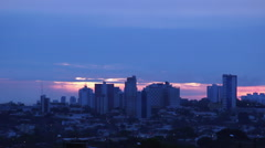 City View. Skyline, sunrise morning.  Stock Footage