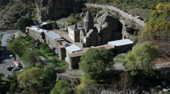 The monastery of Geghard  is a unique architectural construction. Stock Footage