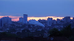 Global Warming . City View. Chimney, Air Pollution. Stock Footage