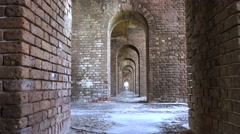 Historic Fort Jefferson in the Dry Tortugas Stock Footage