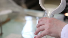 chemical laboratory for testing of milk - stock footage