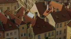 Aerial Shot of the Mala Strana District Leading to the Prague Castle Stock Footage