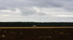 Grain harvester combine work in field Stock Footage