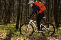 Rider in action at Freestyle Mountain Bike Session Stock Photos